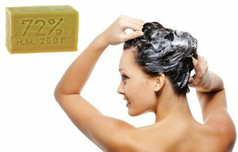 Хозяйственное мыло - для мытья волос